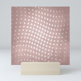Halftone Flowing Circles in Shell Pink Mini Art Print
