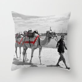 Geelong Camel Walk Throw Pillow