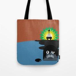 BP Oil Attack Tote Bag