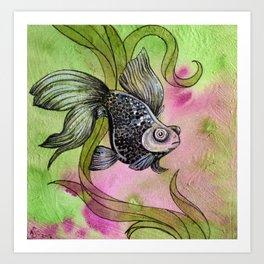 Moorfish on Green Art Print