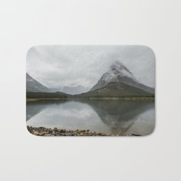 Reflection of Mountains - Glacier NP Bath Mat