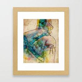 The Leather Bear Framed Art Print