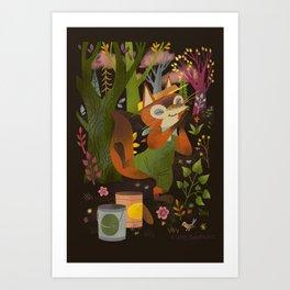Paint Pot Fox Art Print