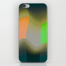 Green abstract iPhone Skin