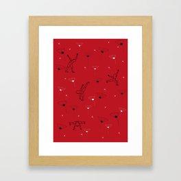 Jibbers in Poppy Framed Art Print