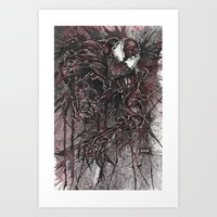 carnage Art Prints featuring CARNAGE by Jay Allen Hansen