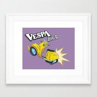 flcl Framed Art Prints featuring Vespa Onna by KogiZoné