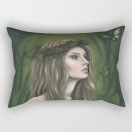 Lady in the Forest Rectangular Pillow