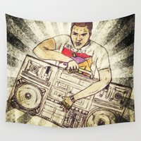 radio Wall Tapestries featuring Radio Raheem by Artistic