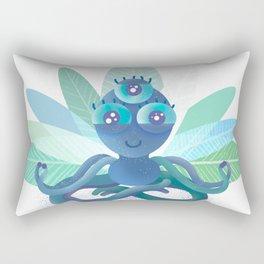 MEDITATION BABY ALIEN CUTE ADORABLE YOGA PILATES RELAX ZEN MINDFULNESS MASCOT Rectangular Pillow