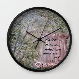 Faith Scroll Wall Clock
