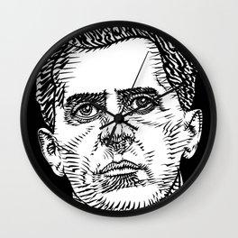 LUDWIG WITTGENSTEIN ink portrait Wall Clock