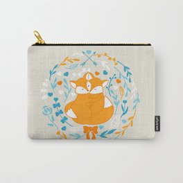 Foxes in love - Grey Carry-All Pouch
