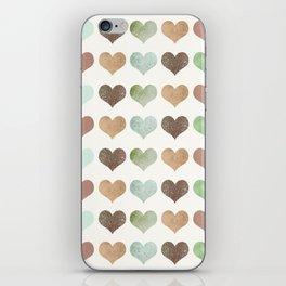 DG HEARTS - RUSTIC iPhone Skin