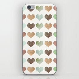 DG HEARTS - RUSTIC iPhone Skin