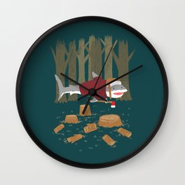 LumberJack Shark Wall Clock