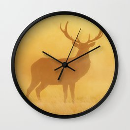 Wild Sunset (Profile of Deer) Wall Clock