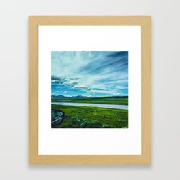 Yellowstone by Automobile (Hayden Valley Views) Framed Art Print