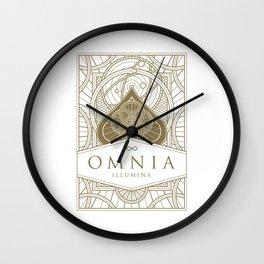 Omnia Illumina tuck box Wall Clock