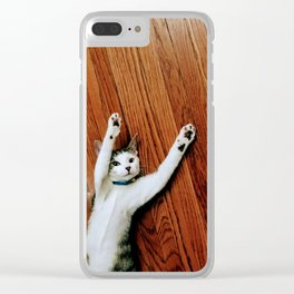 Dancing cat Bamee Clear iPhone Case