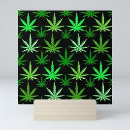 Marijuana Green Weed Mini Art Print