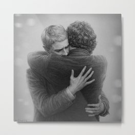 John and Sherlock Metal Print