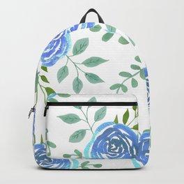 Blue roses or rosa symbolise secret or unattainable love Backpack