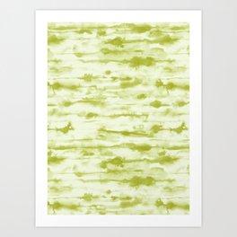 Stratus Moss Green Art Print