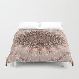 Mandala romantic pink Duvet Cover