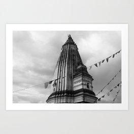 Temple Nepal Art Print