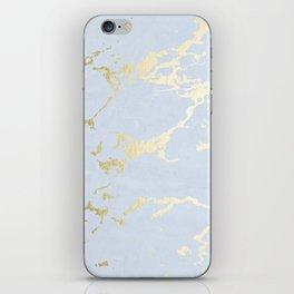 Kintsugi Ceramic Gold on Sky Blue iPhone Skin