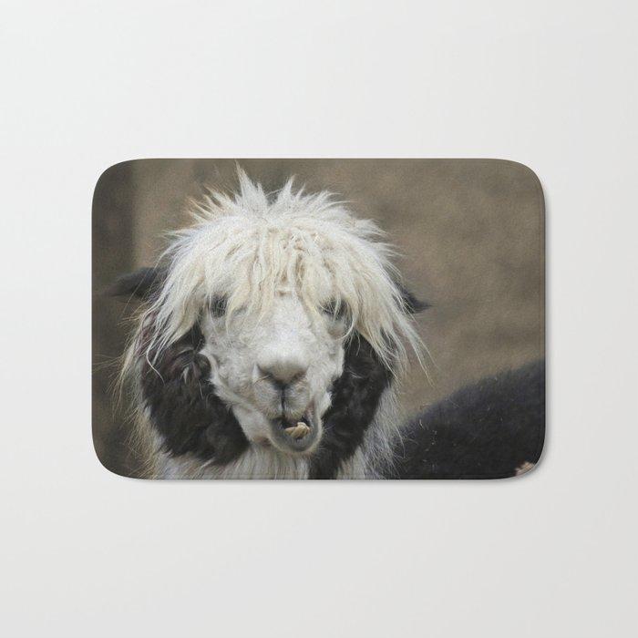 Funny alpaca Bath Mat