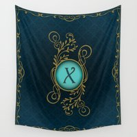 monogram Wall Tapestries featuring Monogram X by Britta Glodde