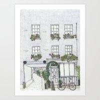 10 Warren Mews, London Art Print