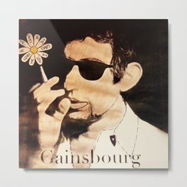 I Love you Gainsbourg... Metal Print