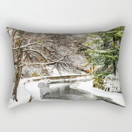The Riverwalk in Winter Rectangular Pillow