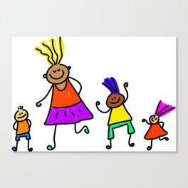 Diverse Friends Canvas Print