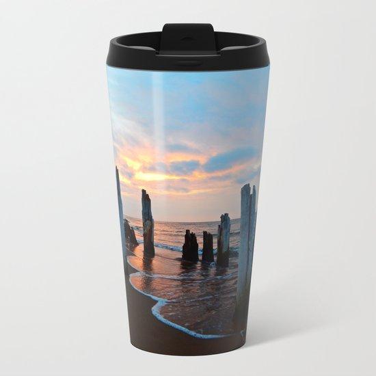 Pillars of the Past at Dusk Metal Travel Mug