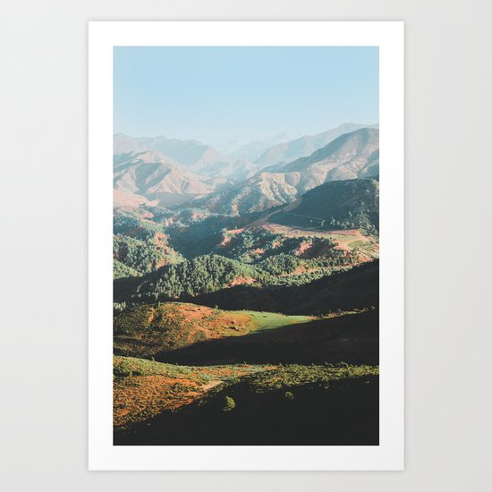 Layers of the Atlas Mountains, Africa Art Print