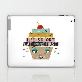 Cupcake eating ice cream Laptop & iPad Skin
