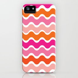 Wiggling Rainbows iPhone Case