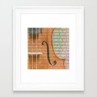 violin Framed Art Prints featuring Violin by Imagology