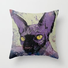 Sphynx Painting Throw Pillow