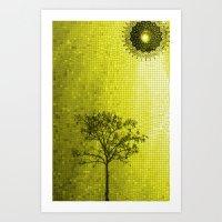 IPHONE CASE-Tree & Sun (Yellow version) Art Print