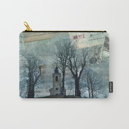 A Village Church on the Top of the Hill Carry-All Pouch