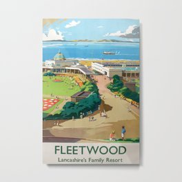 Fleetwood Vintage Travel Poster Metal Print