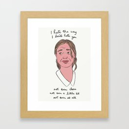 10 Things I Hate About You Framed Art Print