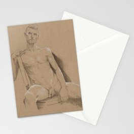 danny sitting Stationery Cards