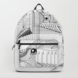 Geometric Architectural Bird-01 Backpack