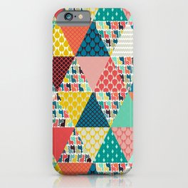 llama geo triangles iPhone Case